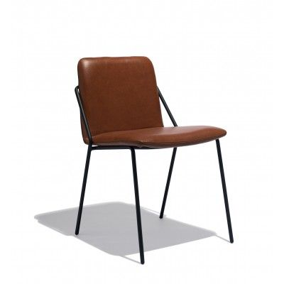 Industry West Sling Chair Leather | Metal leather chair ...