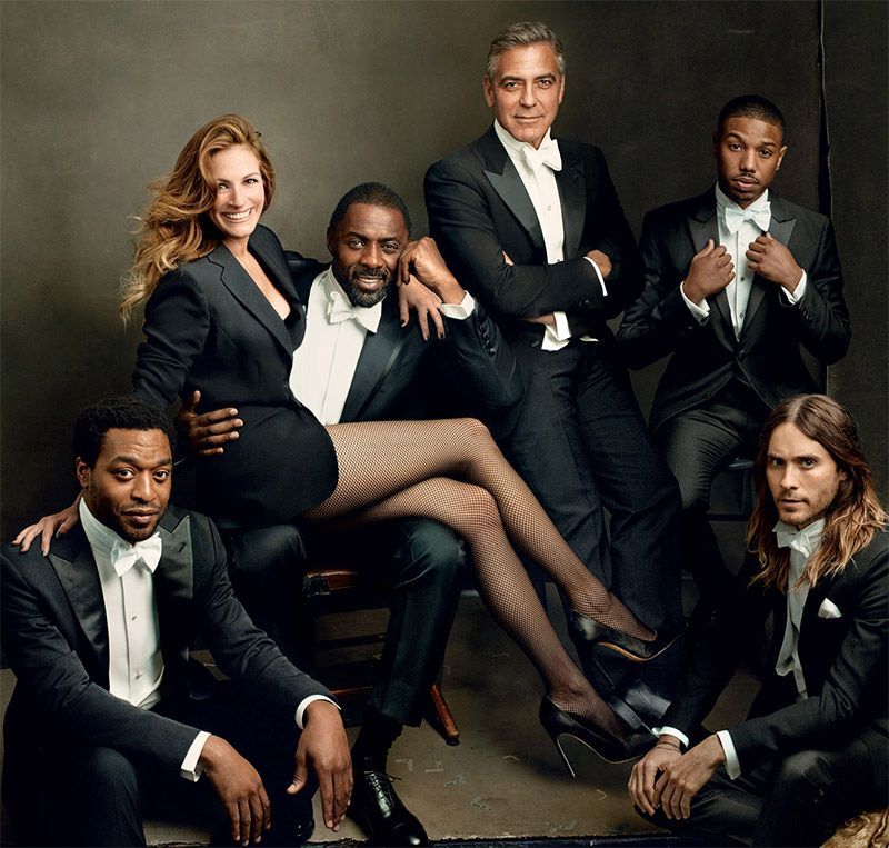 Vanity Fair's 2014 Hollywood Issue Cover, Close Up