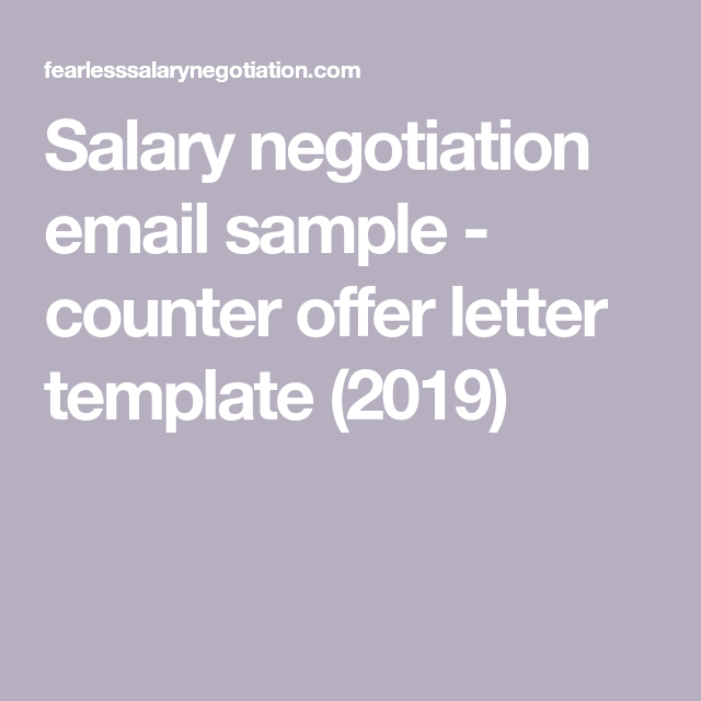 Counter Offer Salary Letter Sample.Salary Negotiation Email Sample Counter Offer Letter