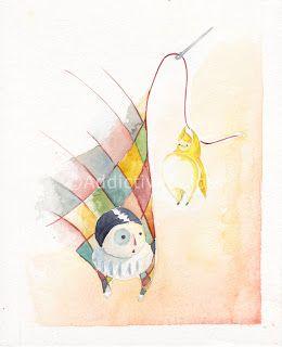 """""""Con ago e filo"""" - a """"Tre stelle e un vestitino"""" #ChildrenIllustration #Illustration"""
