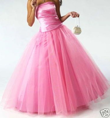 Stock  Bridal gown A-line Pink color Floor length Wedding dress size 2-4-6-8-10-12 US $39.00