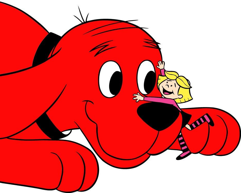 This is an image of Invaluable Clifford the Big Red Dog Clipart