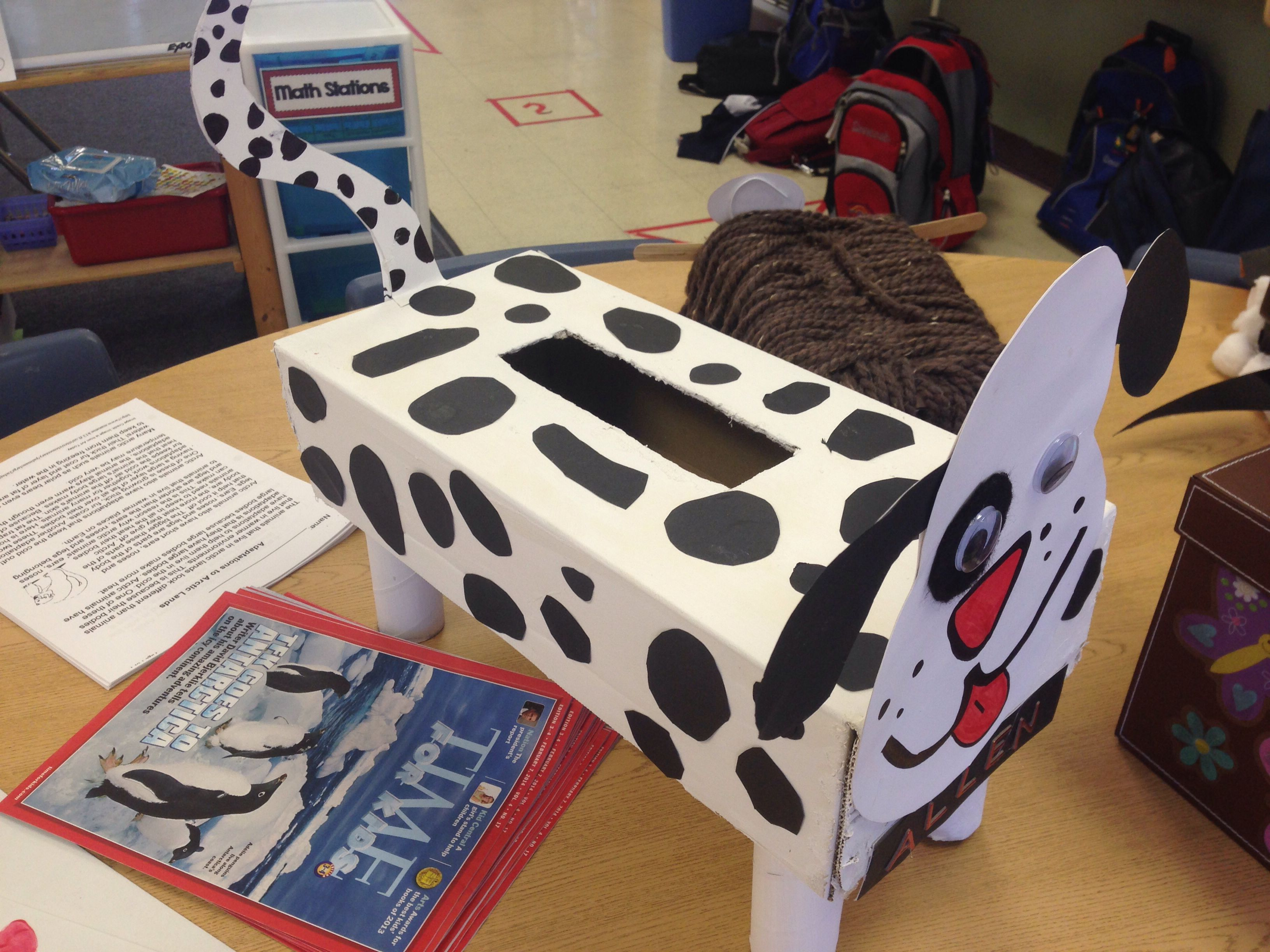 3Rd Grade Dog Valentine Box Animal Classification Project