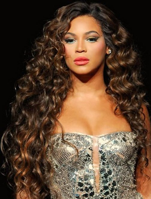 Beyonce Long Brown Curly Hair Style Curly Hair Styles
