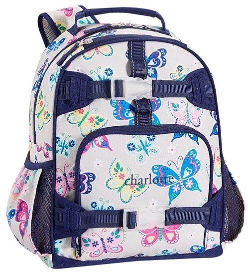 189a3f9e848a Pottery Barn Kids Mackenzie Gray Rainbow Butterfly Lunch Bags Rainbow  Butterfly