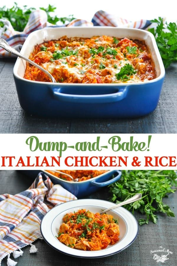 Dump-and-Bake Italian Chicken and Rice images