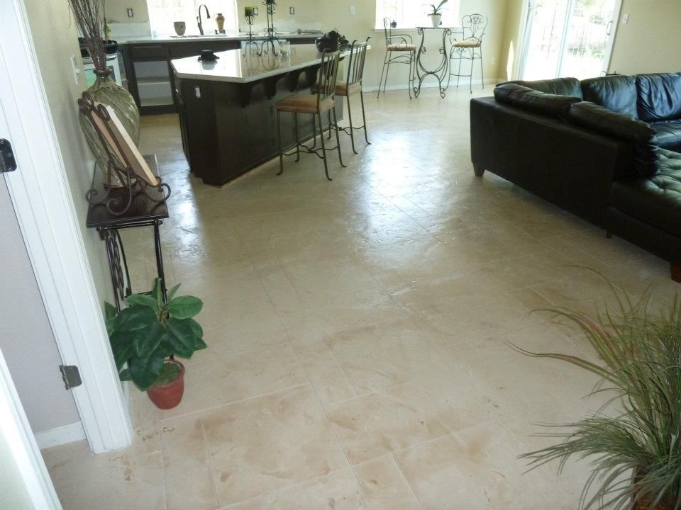 Decorative concrete resurfacing for interior floor in - Interior concrete floor resurfacing ...