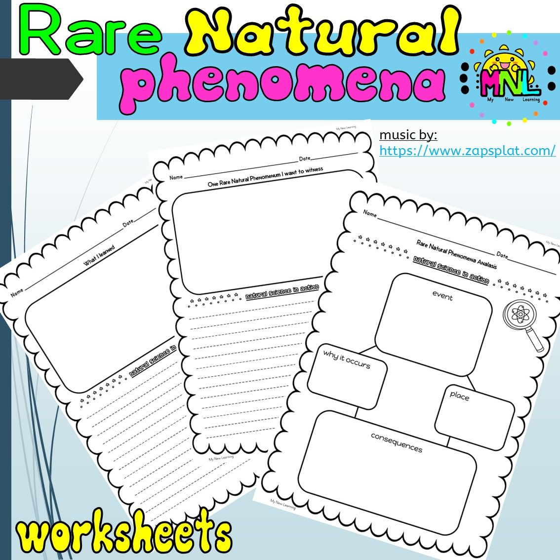 Natural Science Rare Natural Phenomena Unit Study In