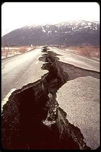 Ever changing landscape with earthquakes in California