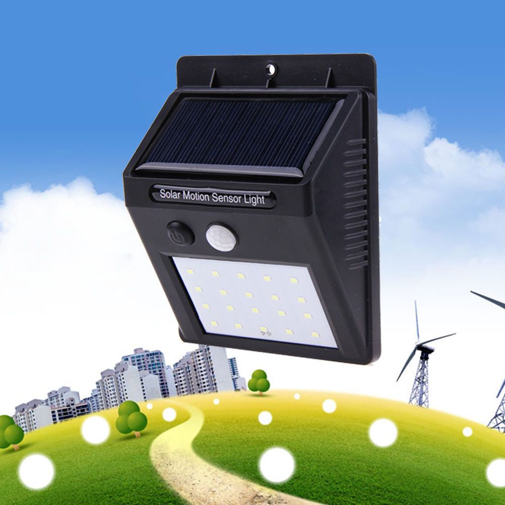 Waterproof led solar power pir motion sensor wall light outdoor