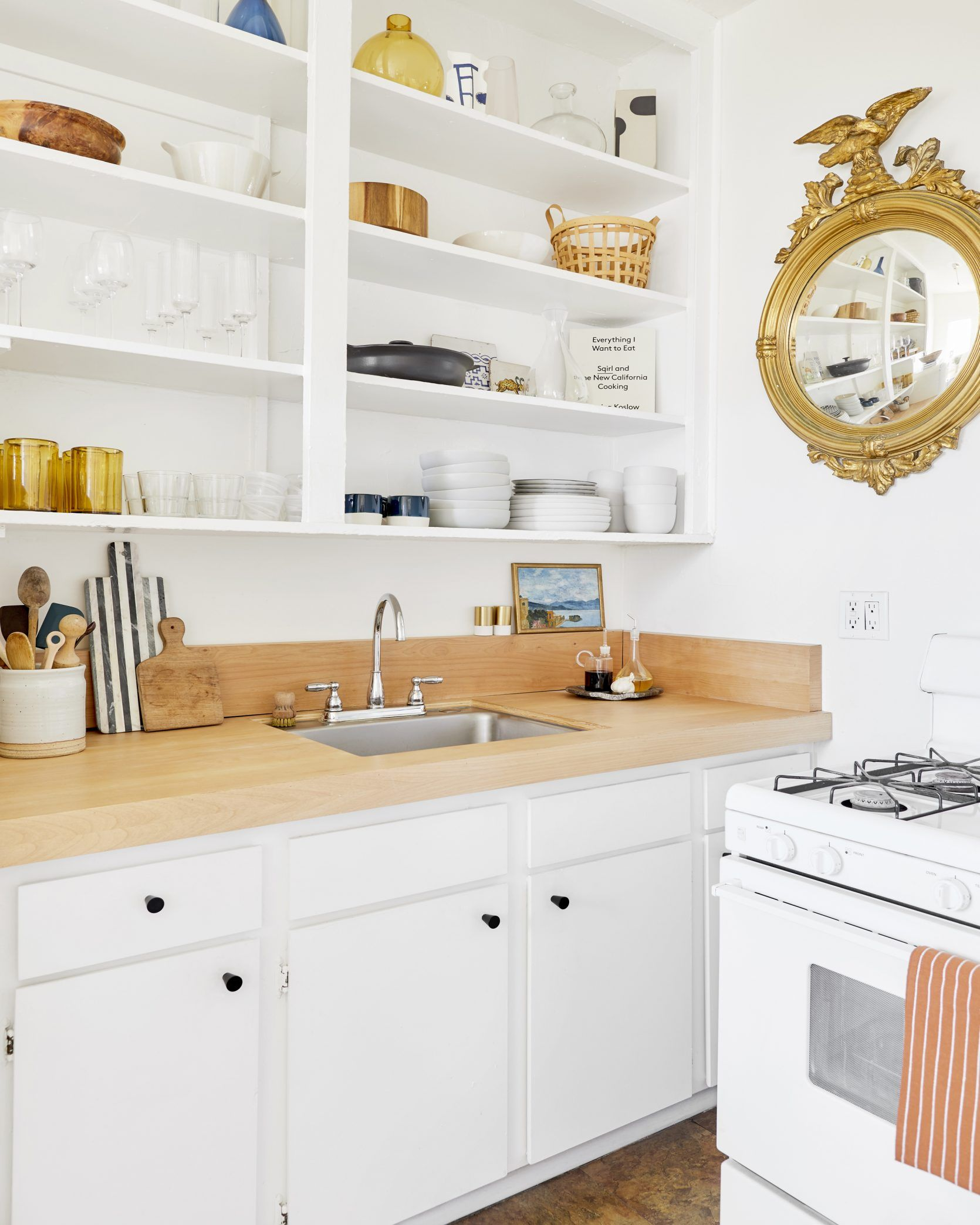 A Super Stylish Small Rental Kitchen With Diys You Ll Want To Try For Yourself Kitchen Cabinet Organization Layout Kitchen Cabinet Storage Rental Kitchen
