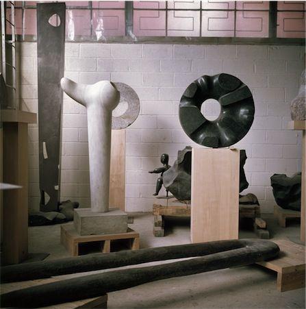 thenoguchimuseum: Isamu Noguchi's 10th Street studio in Long Island City, New York, ca. 1969 Photograph by Margot Granitsas The Noguchi Museum Archives