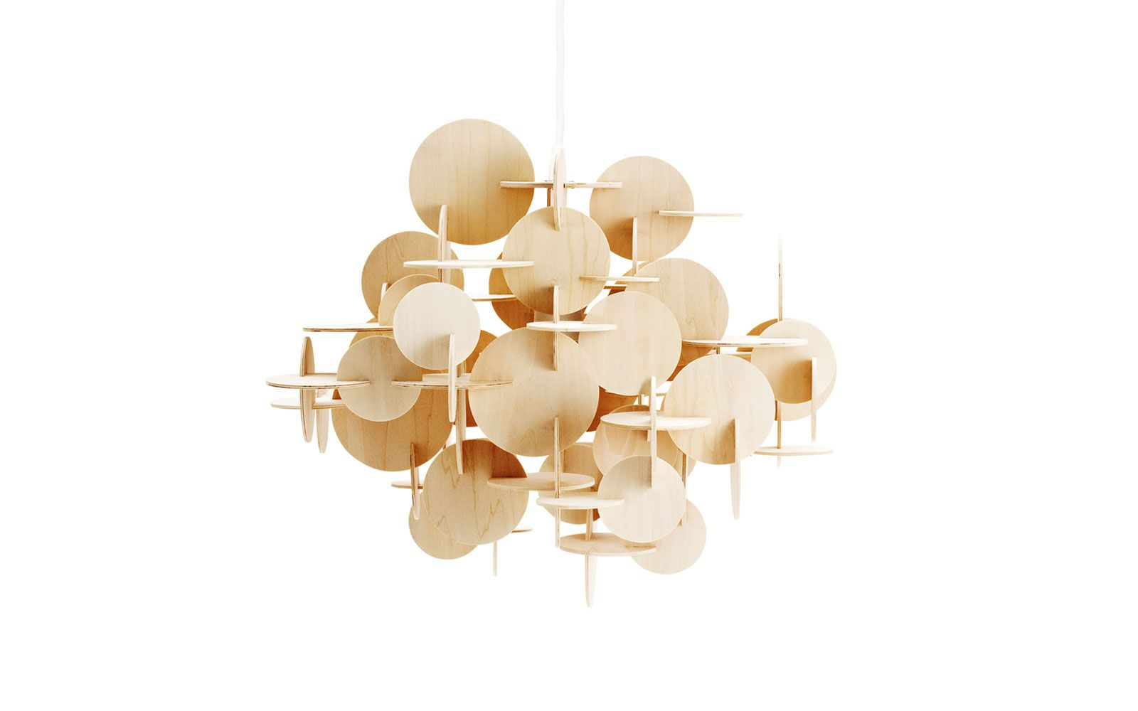 Great Bau Lamp | A Sculptural Wooden Ceiling Lamp Of Multicolored Elements Amazing Ideas