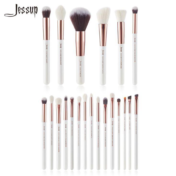 Photo of Jessup Pearl White/Rose Gold Makeup brushes set Beauty kits Make up Brush Eye Li…,  #beauty…