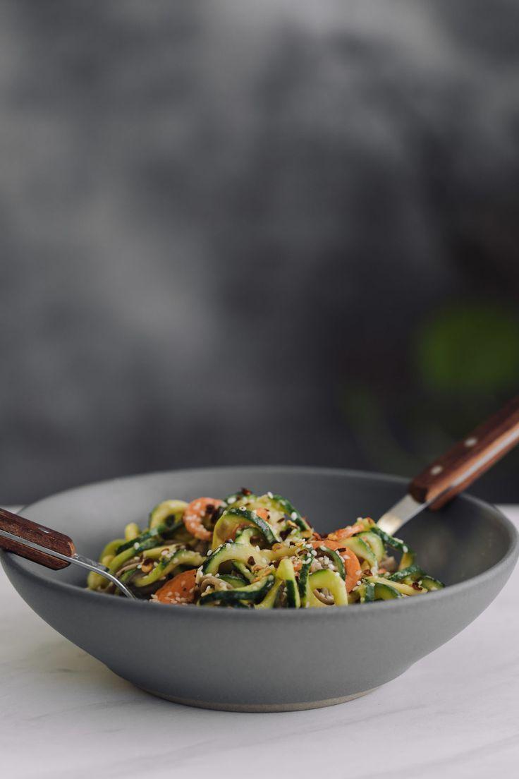 Zucchini Soba Bowl With Tahini Sauce