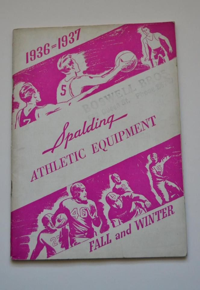 Spalding 1936 Fall and Winter. (Colección particular Pablo Gines)