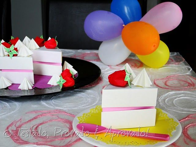 Origami Birthday Cake Origami Pinterest Birthday Origami And