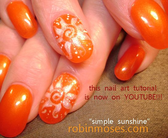 Nail Art By Robin Moses Rainbow Summer Flip Flops Nail Art Design
