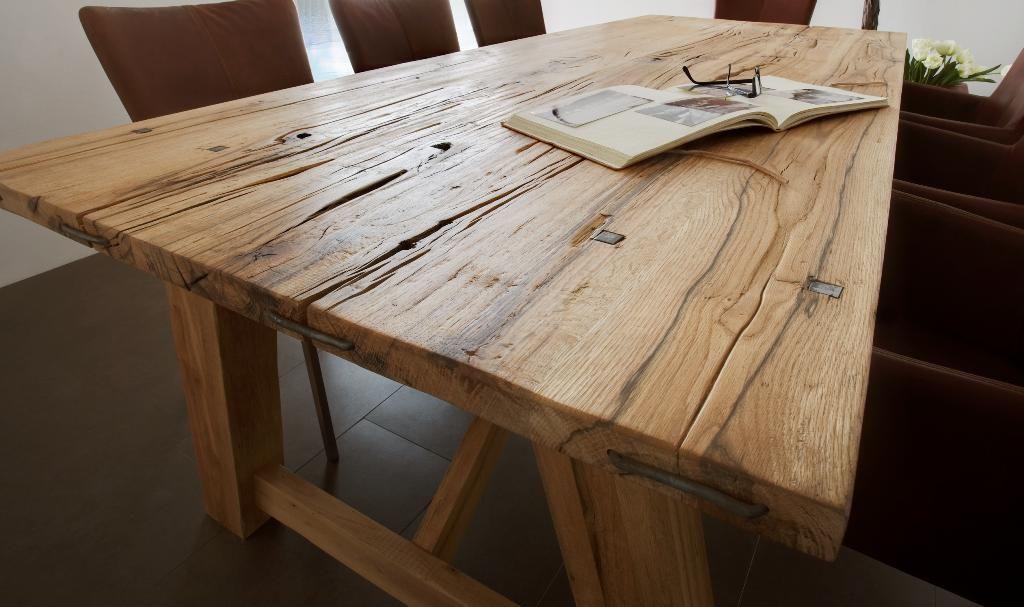 Rustikal Esstisch Massivholz Ausziehbar