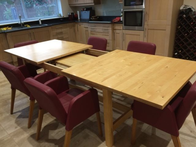 IKEA Dining Table  Eight Leather Chairs In great used condition