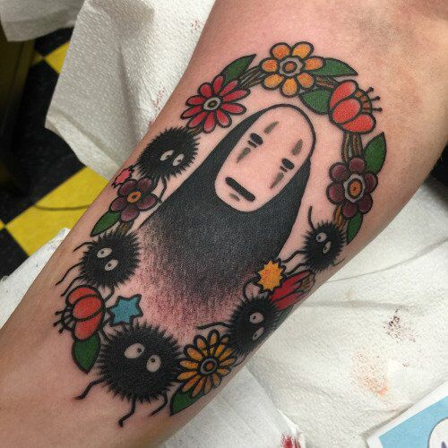 No Face Traditional Tattoo Spirited Away Tattoo Traditional Tattoo Prints Tea Tattoo