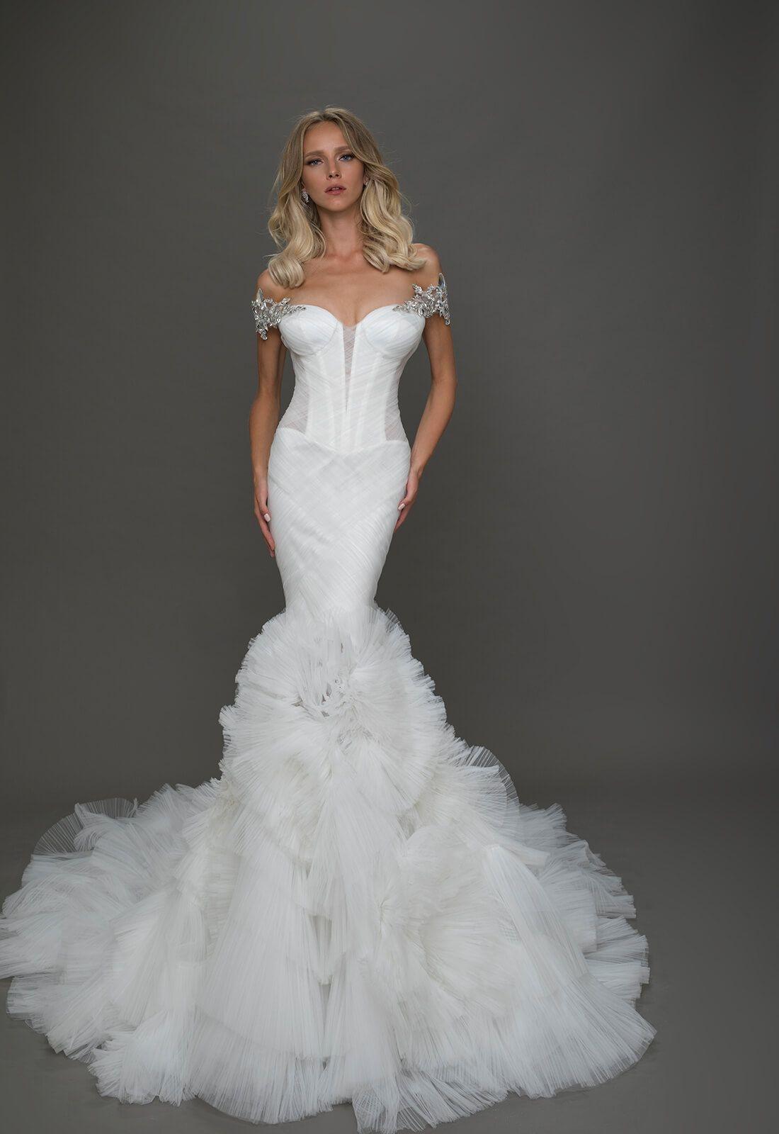 Wedding gown pnina tornai style no wedding