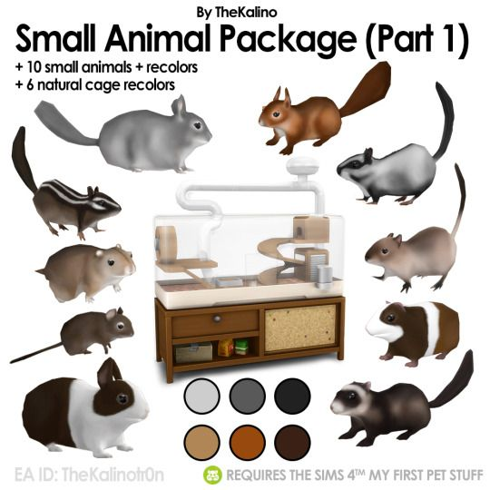 Small Animal Package And Recolors Mit Bildern Sims 4 Kleinkind Sims 4 Mods Sims Mods