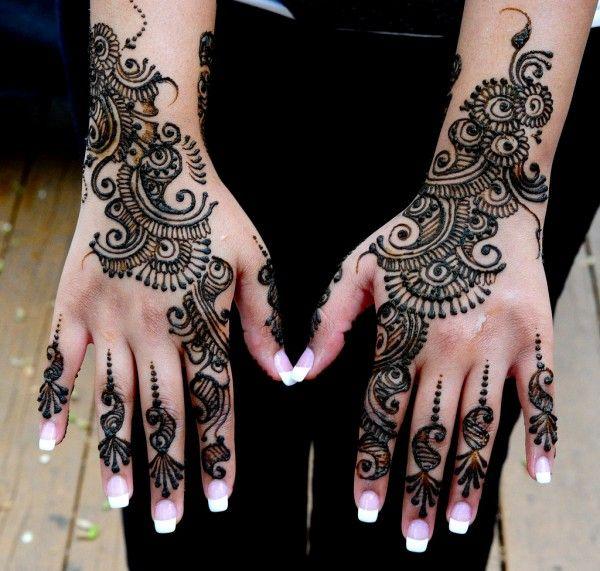 Mehndi Henna Glitter : Beautiful arabic glitter mehndi designs pictures