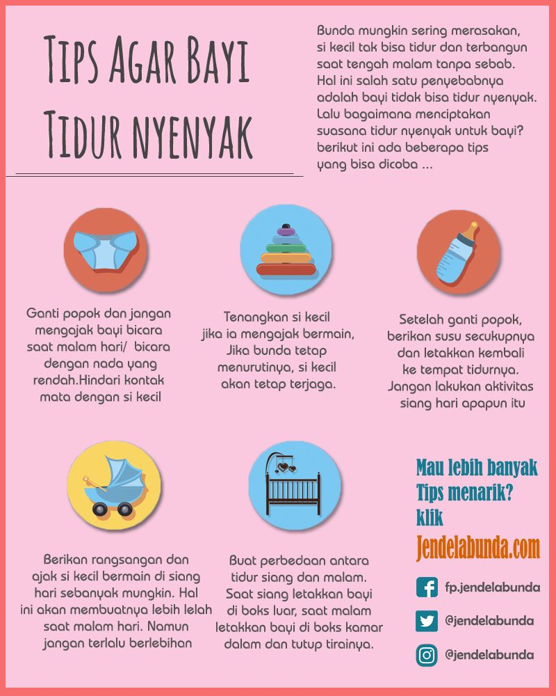 Tips Agar Bayi Tidur Nyenyak Tips Bayi Pinterest Infographic