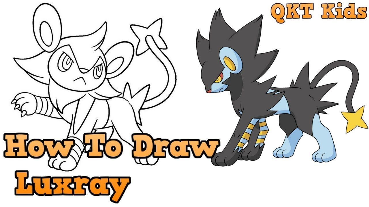 How To Draw Luxray From Pokemon | Learning Color For Kids