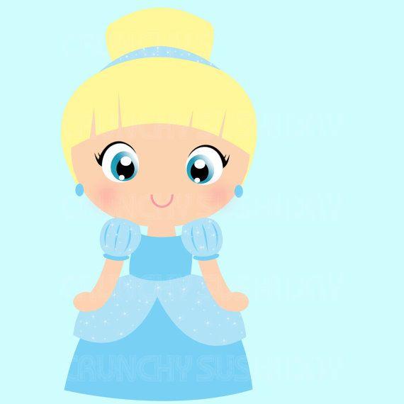 Instant Download Princess Cinderella Princess by CrunchySushiDay