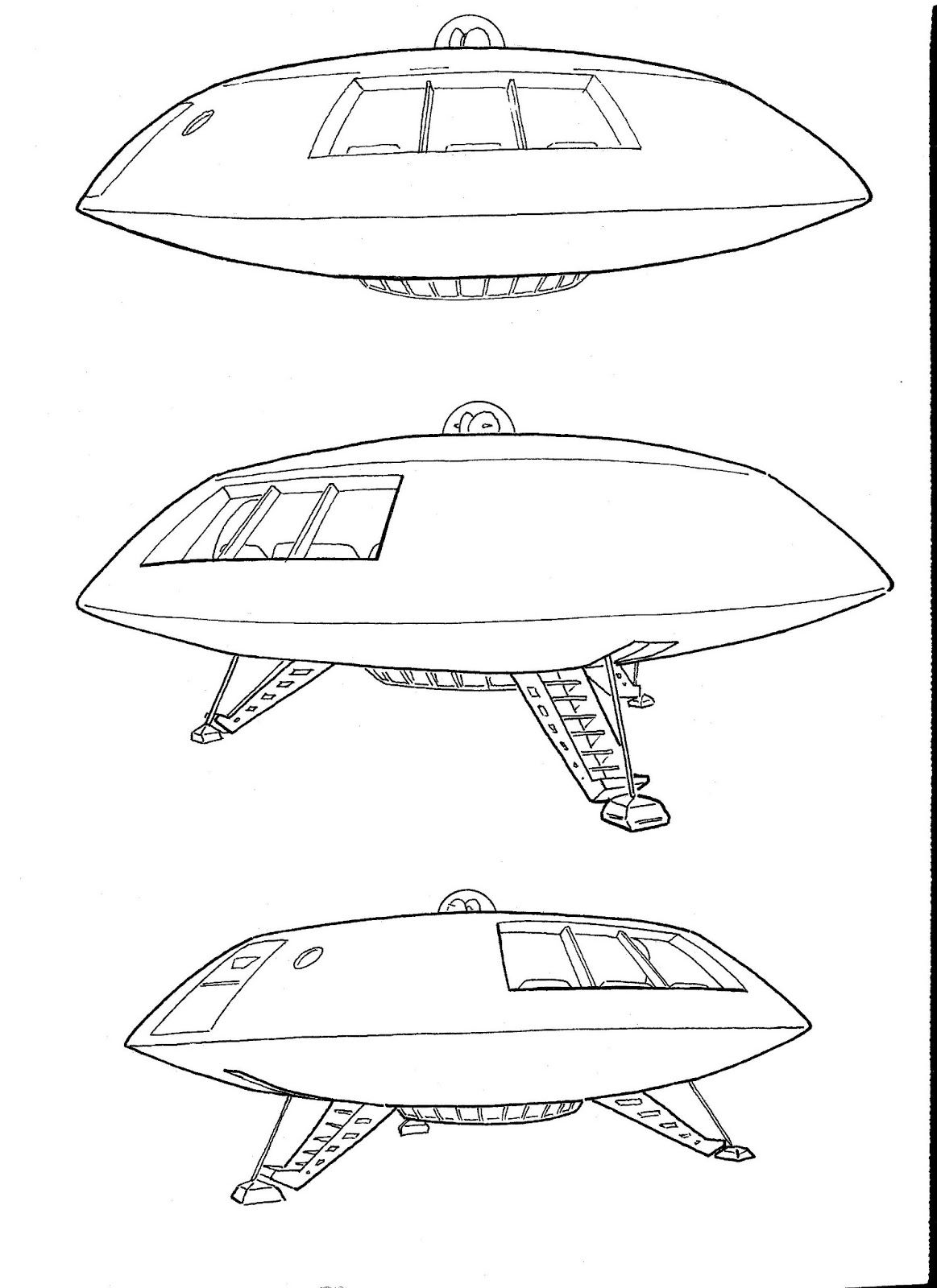 Jupiter 2 Spaceship Drawings