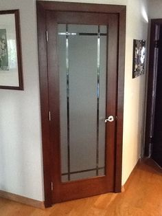 Leaded glass doors with frosted glass for pantry, laundry, office ...