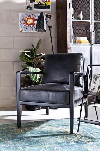 Echtleder Sessel mit Holzgestell - Vintage Möbel bei Möbelhaus ...