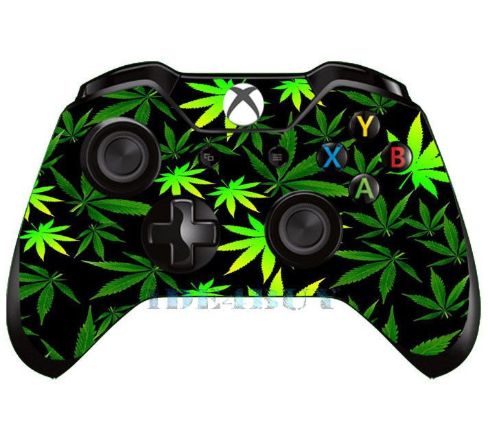 Pop Green Leaf Skin For X Box One X Box One Controller Sticker Cover Custom Xbox One Controller Xbox One Custom Xbox