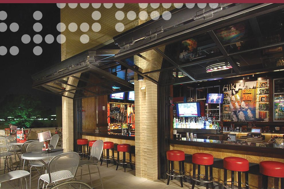 Glass Garage Doors Restaurant