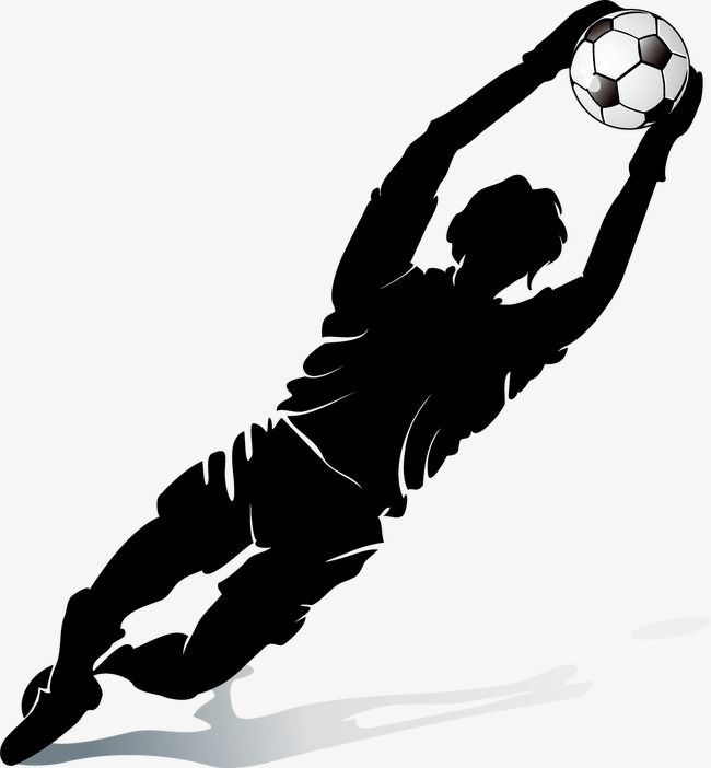 Football Player Silhouette Soccer Player Football Sketch Png Transparent Clipart Image And Psd File For Free Download Goleiro Futsal Goleiro Festa De Futebol