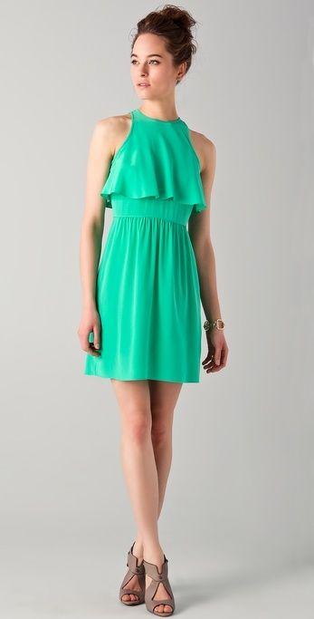 Tibi Ruffle Front Dress thestylecure.com