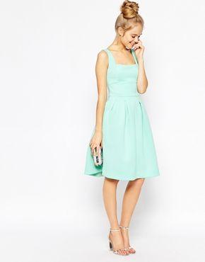 ASOS Sleeveless Debutante Midi Dress