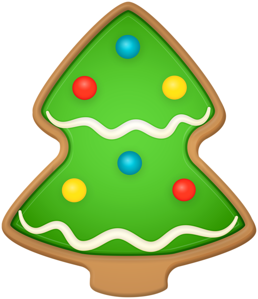 Christmas Tree Cookie Png Clipart In 2020 Christmas Tree Cookies Christmas Tree Tree Cookies