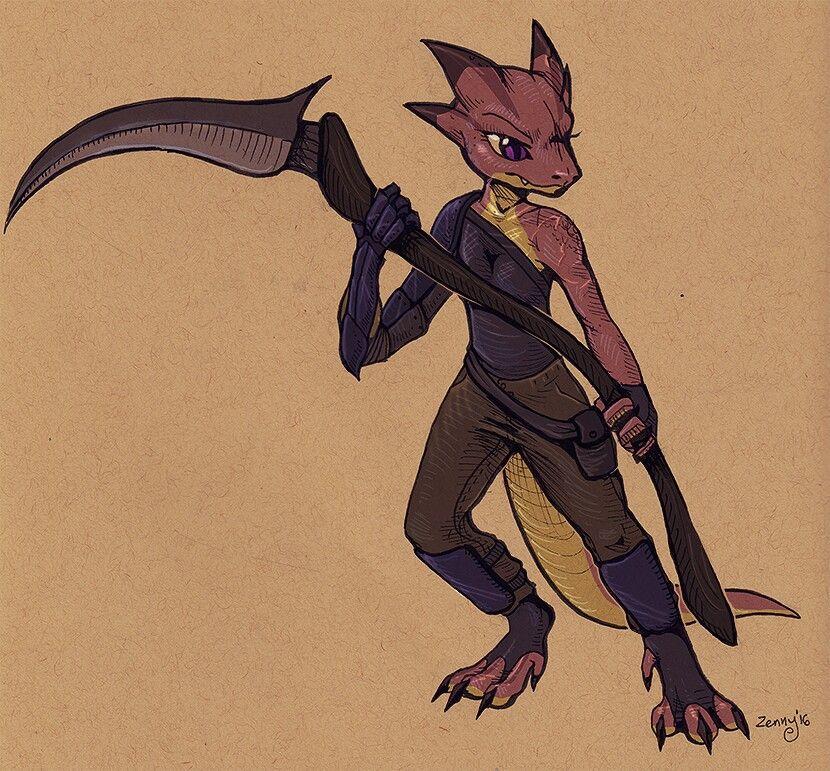 Kobold Monk Character Art Furry Art Character Design