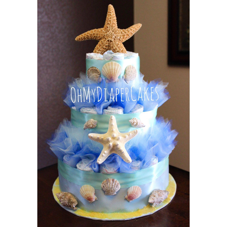 Under the Sea Diaper Cake Under the Sea Baby Shower Ocean Diaper