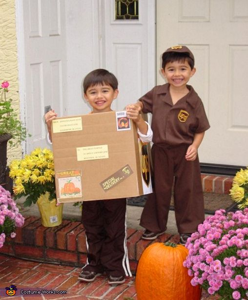 ups man with package halloween costume for boys my brothers used this costumes - Ups Man Halloween Costume