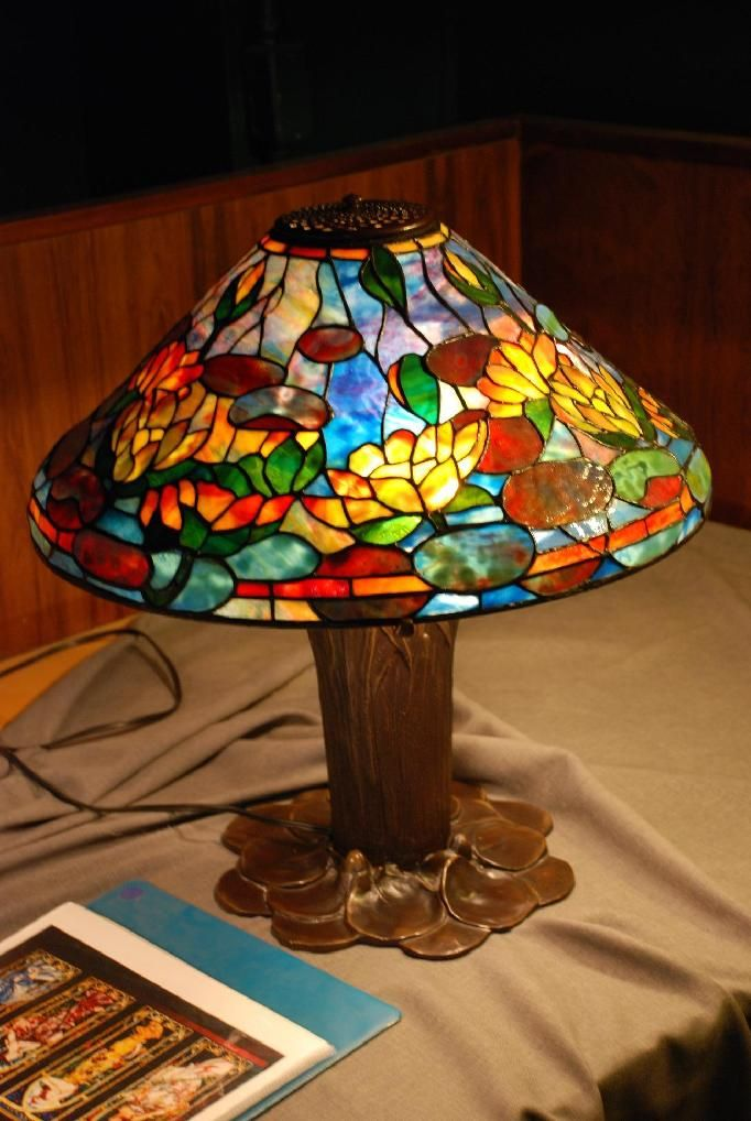 Water Lily Stained Glass Lamp Lamp Glass Stained Glass Lamps