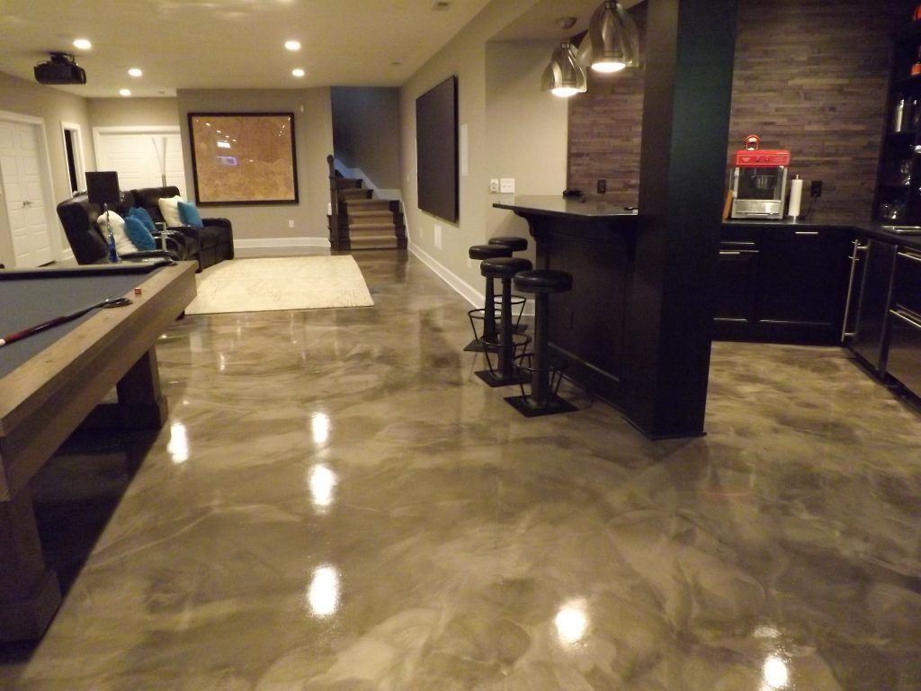 epoxy flooring basement. Epoxy Flooring - Stained Concrete Columbus Ohio Basement