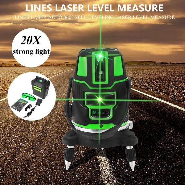 2 3 5 Cross Lines Laser Level Self Leveling 360 Rotary Laser Measuring Tool Set Laser Levels Laser Measurement Tools