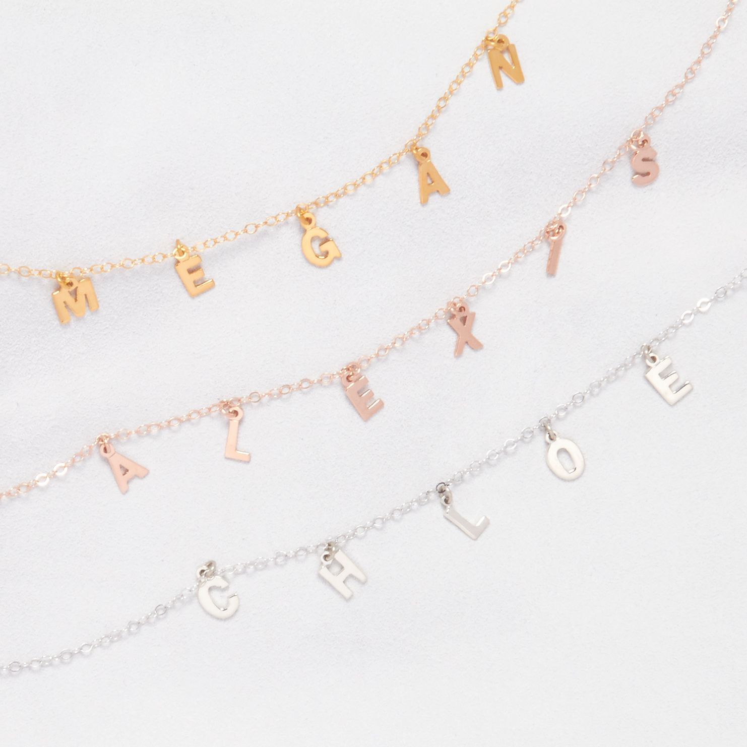 c28e8a951d19c Sofia Spaced Name Choker in 2019 | Nameplates and Initial Necklaces ...