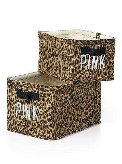 Leopard Print Pink Storage Bins Storage Bins Pink Storage Boxes