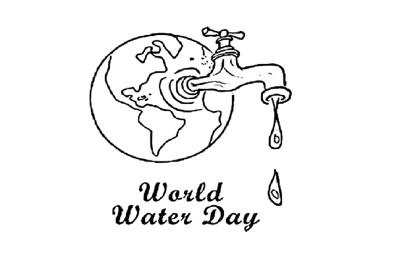 Save Water Picture And Poem Pencil Drawing Black And White
