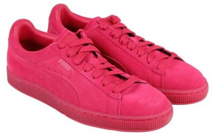 f2b0c0e9aaf2 Puma Suede Classic Ice Mix Rose Red Hibiscus Mens Lace Up Sneakers ...